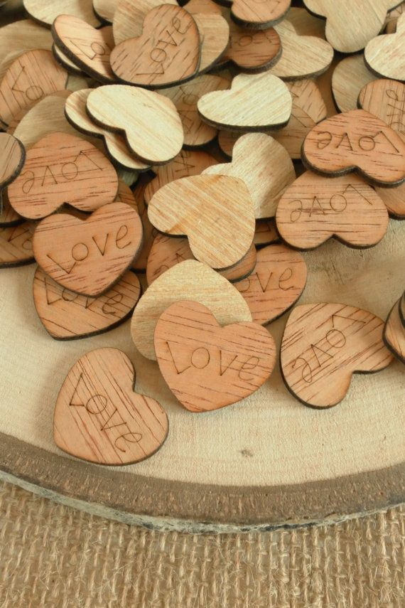 100 Love Hearts 1 Cute Little Wooden Hearts Rustic Table Confetti Wedding Table Scatter Rustic Wooden Hearts Tiny Wooden Hearts Rustic Wedding Decor