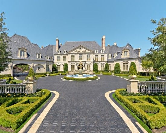 French Chateau Design Ideas Pictures Remodel And Decor 고급 주택 건물 대저택