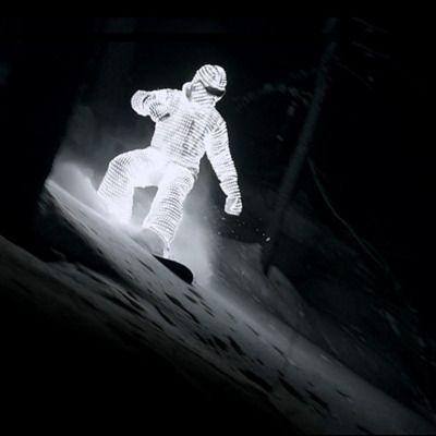 LED snowboarding