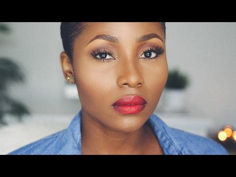 super easy everyday makeup tutorial  dimma umeh  youtube