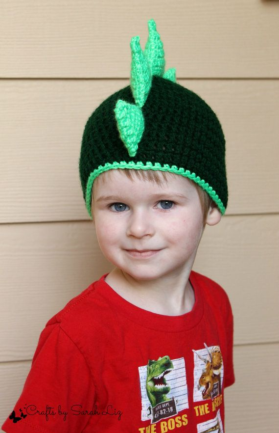 Green Dinosaur Hat, Kids Dinosaur Hat, Baby Dinosaur Hat, Infant ...