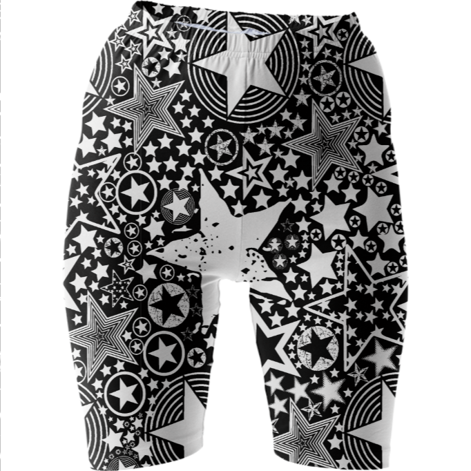 Shop STARRY STARRY NIGHTS 2 Bike Shorts by THE GRIFFIN PASSANT STREETWEAR STREETWEAR | Print All Over Me