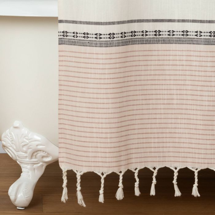 Ombre Shower Curtain Copper Hearth Hand With Magnolia With