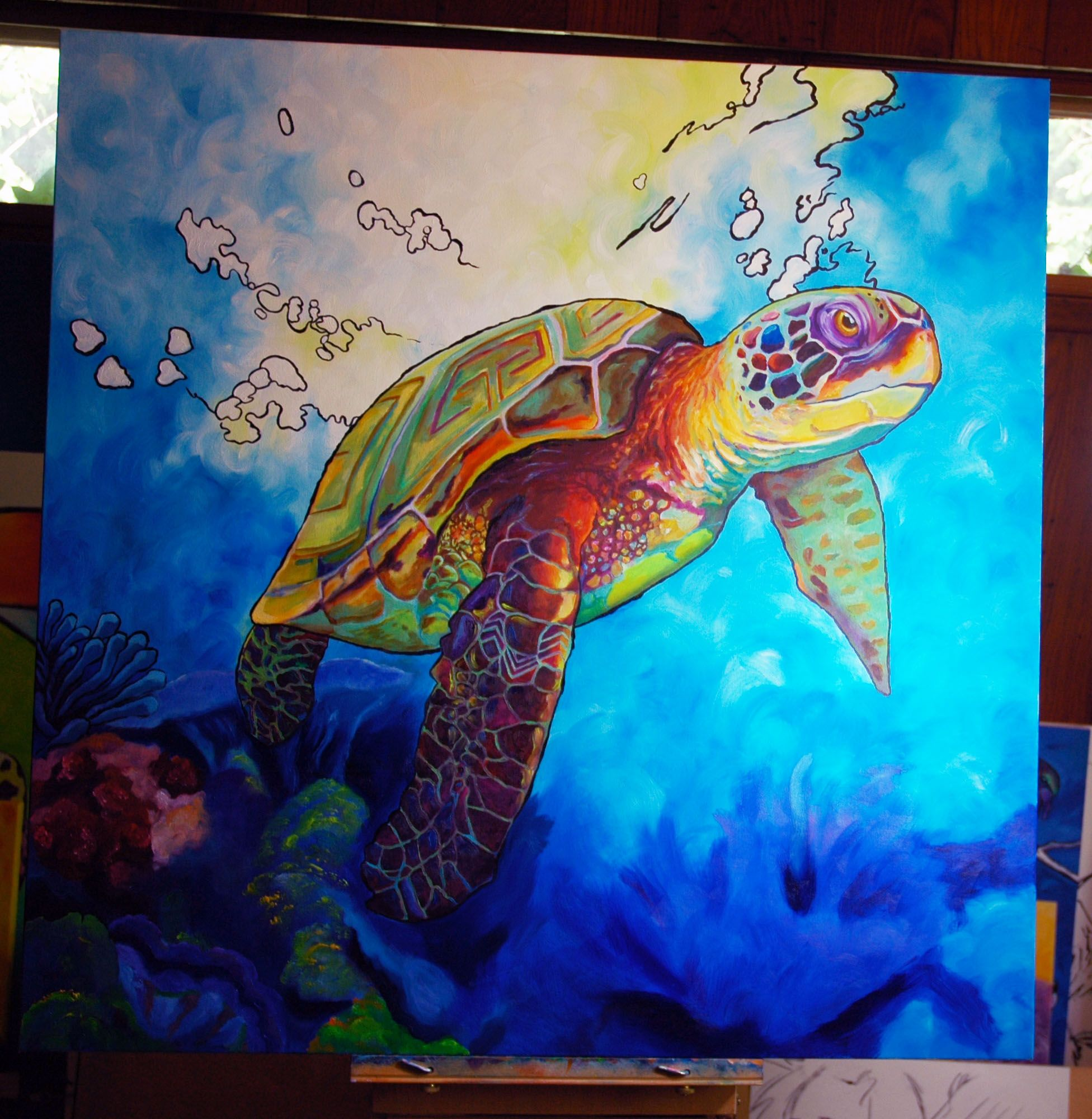Underwater Ocean Life paintings- use watercolor. | 1 ...