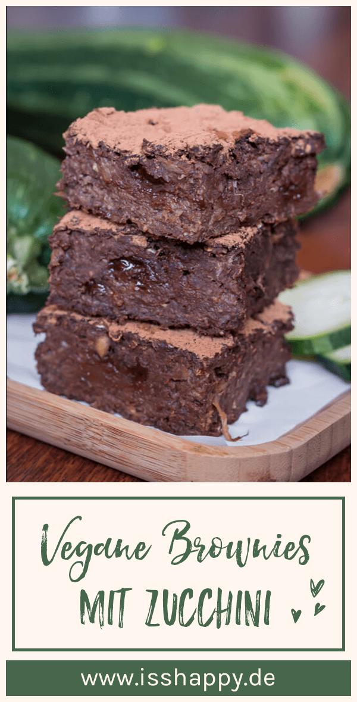 Vegane Brownies ohne Haushaltszucker – super saftig mit Zucchini #veganerezepte