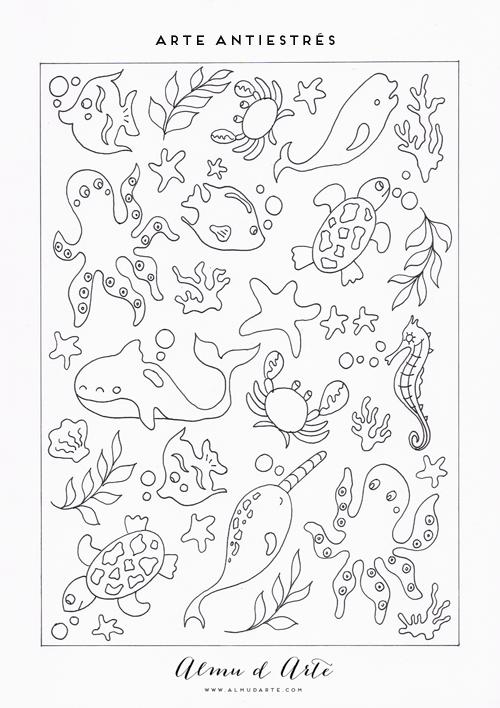 Almu d Arte: 7 Dibujos para colorear antiestrés | for children ...