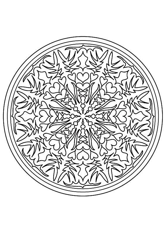 Coloriage Mandala Difficile Fleur.Galerie De Coloriages Gratuits Coloriage Mandala Difficile 9 Des