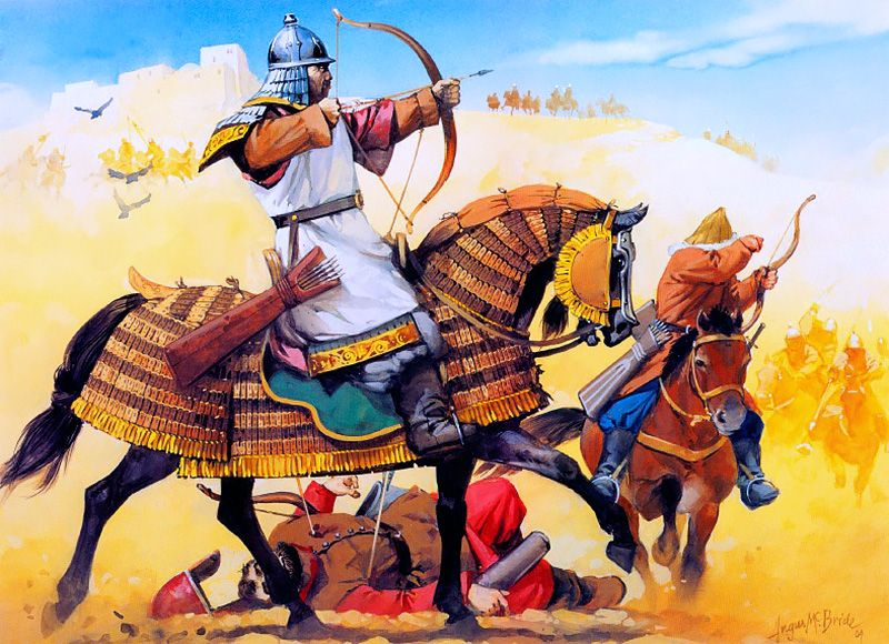 """""""Mongols in the Middle East, 1220 AD"""" by Angus McBride"""