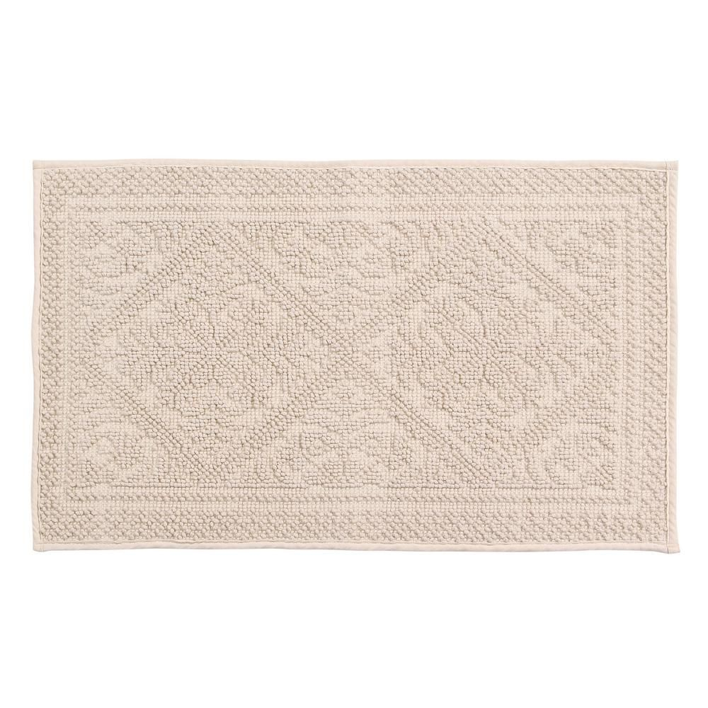 Bring A Classic And Fabulous Look To Your Bathroom Space With The Addition Of This Affordably Priced Better Trends Jaqua Cotton Bath Rug Bath Rug Carpet Trends