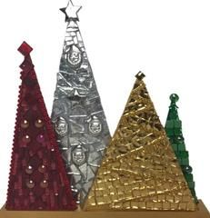 mosaic christmas tree decoration