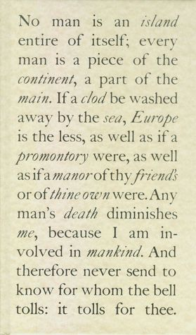 John Donne No Man Is An Island Literary Quotes Pretty Words