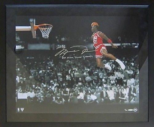 """MICHAEL JORDAN Signed """"1988 Gatorade Slam"""" 20x24 Framed Photograph UDA LE 88 - Game Day Legends"""