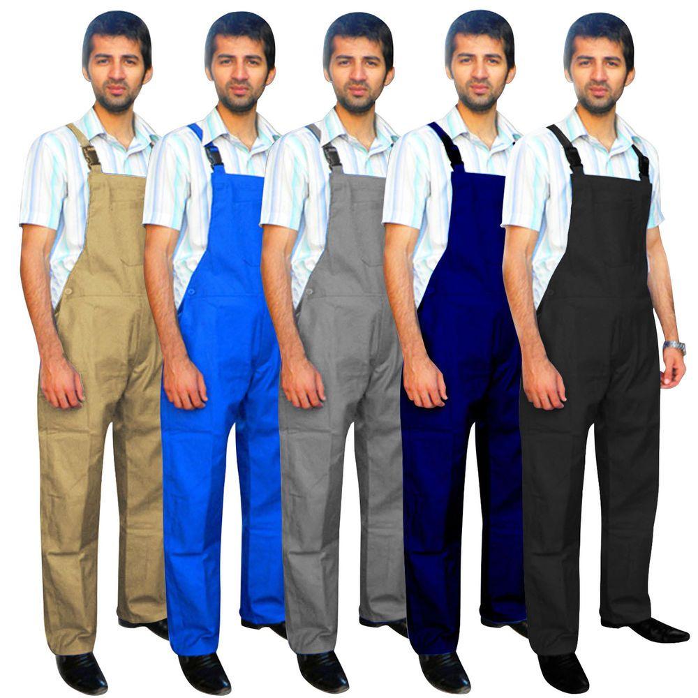 Mens Denim Dungarees Bib and Brace Overalls Decorators Workwears Trousers Pants