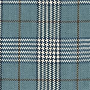 D2988 Newbury Plaid Lake Blue Plaid Upholstery Fabric By Roth And