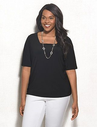 31c0378f0452ae roz & ALI™ Plus Size Square Neck Top | Clothing that I like | Tops ...