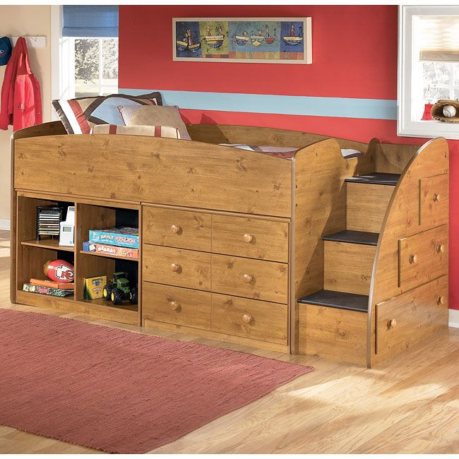 The distressed accents of the Stages Bedroom Collection by Signature