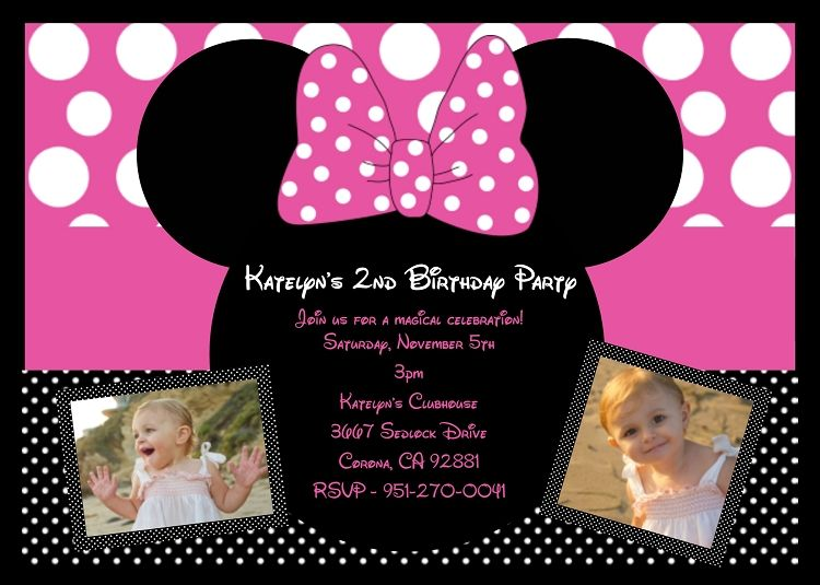 minnie mouse invitations | party invitations minnie mickey mouse minnie mouse birthday invitation ...