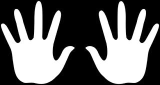 Finger Prints Mãos de crianças, Molde de pé