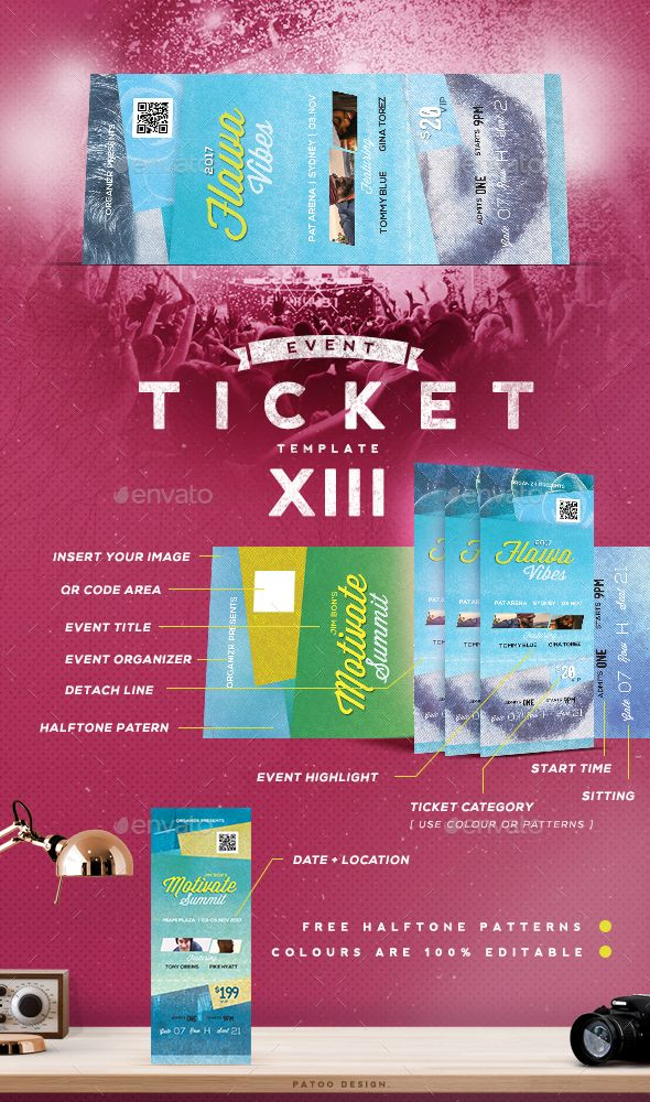 Event Tickets Template PSD. Download here: https://graphicriver.net ...