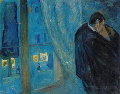 Kiss by the Window (1892) - Edvard Munch