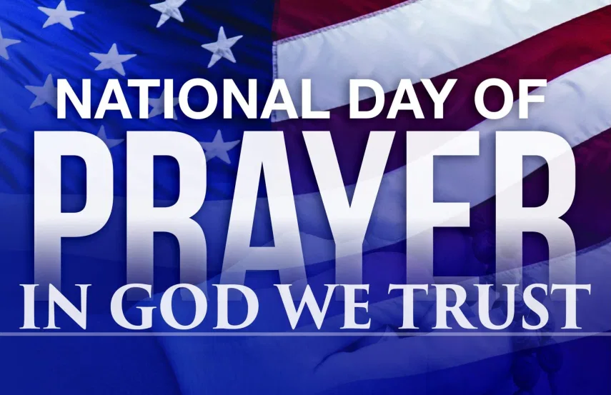 National Day Usa Of Prayer Christian Nation Faith Quotes In God We Trust