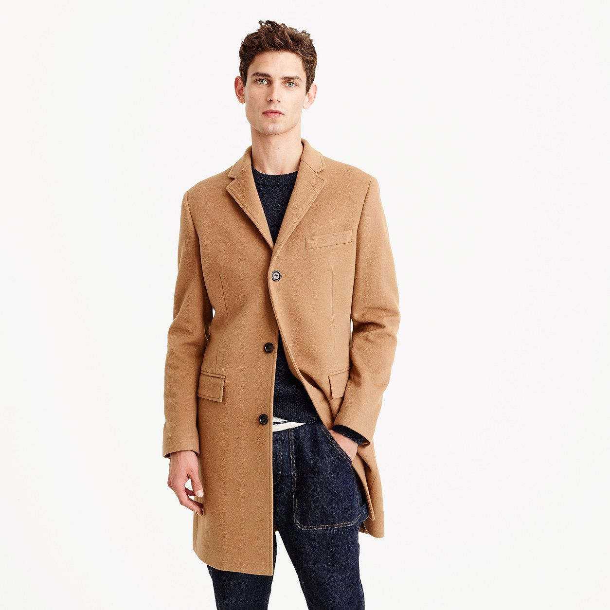 b1094b7744b J.Crew Mens Ludlow Topcoat In Italian Wool-Cashmere With Thinsulate (Size