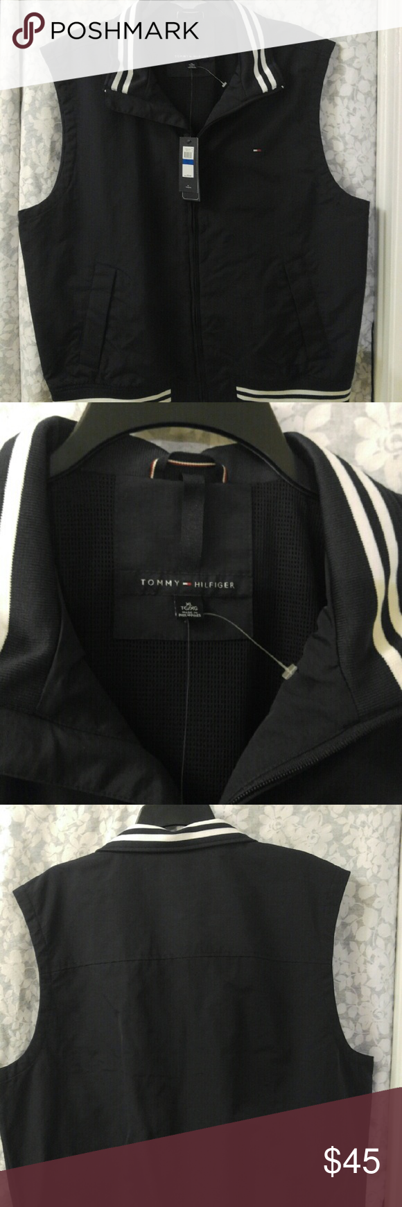 New with Tags Tommy Hilfiger Vest New with Tags All weather vest Zipper front Smoke free home Tommy Hilfiger Jackets & Coats Vests