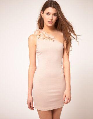 179c6d1bdb14 Rare One Shoulder Corsage Dress   Dress links in 2019   Dresses ...