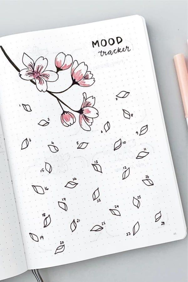 18 Bullet Journal Mood Tracker Ideas For February 2020 - Crazy Laura