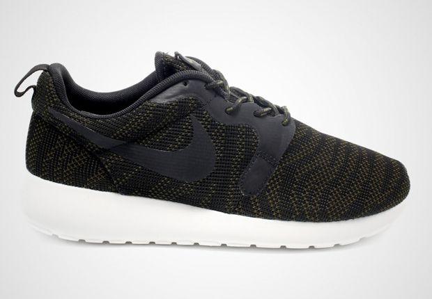 9a24418c5aad Nike Womens Roshe Run Jacquard - Faded Olive - Black - SneakerNews ...