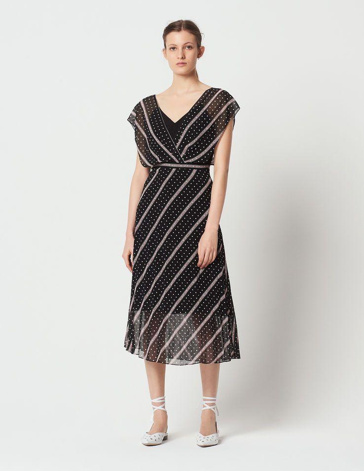 069e35585a0 Keep on Dancing long printed dress - Dresses - Sandro-paris.com ...