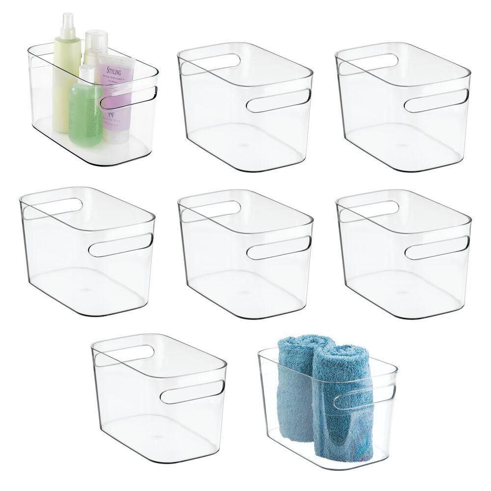 Plastic Bathroom Vanity Storage Organizer Tote Bin 10 X 6 X 6 In 2020 Bathroom Vanity Storage Tote Organization Tote Bin