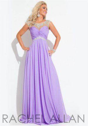 Rachel Allan Beaded Lilac High Neck Long Prom Dresses 2015 Bridal Elegance - Erie PA