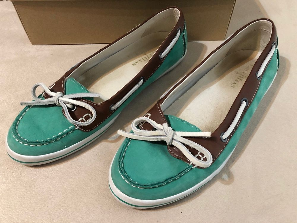 f73bc90412d Cole Haan Air Jamie Women Green Boat Shoe 9B Pre Owned Good Used Condition   fashion