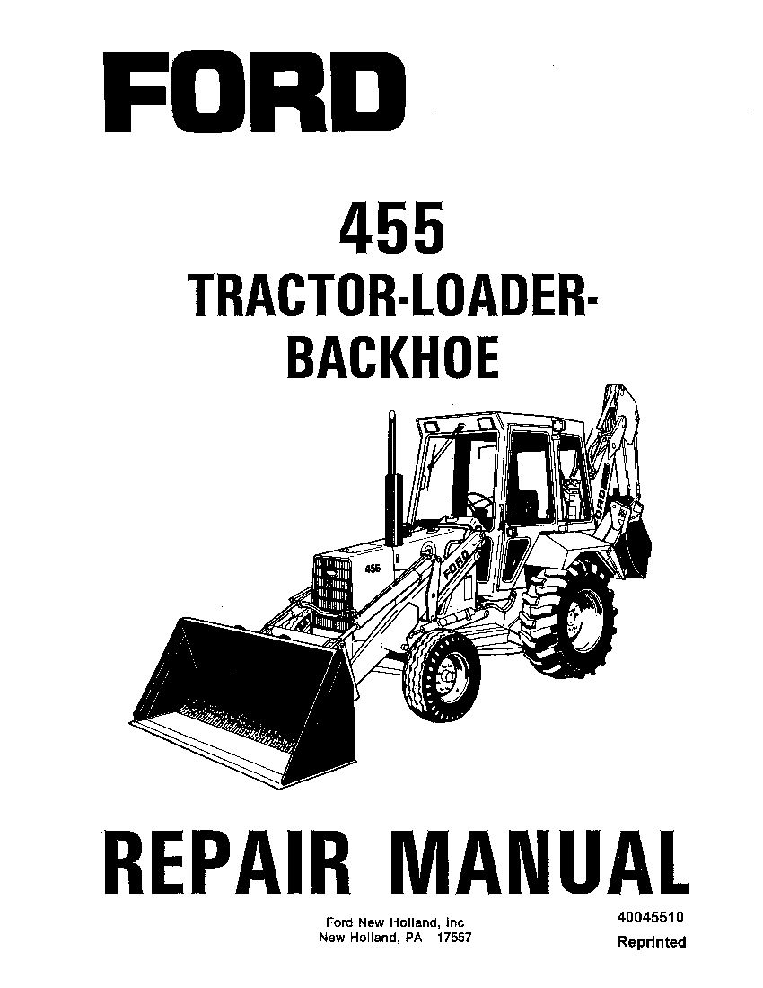 New Holland Ford SE4600 455 Tractor Loader Backhoe 1988