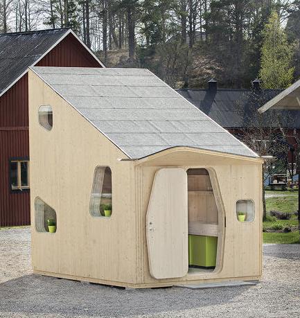 素敵すぎる 低価格の一人暮らし用ミニハウスは北欧テイストでロフト