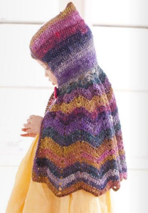 Crocheted Hooded Capelet | Jacketo..swetro | Pinterest | Ponchos ...