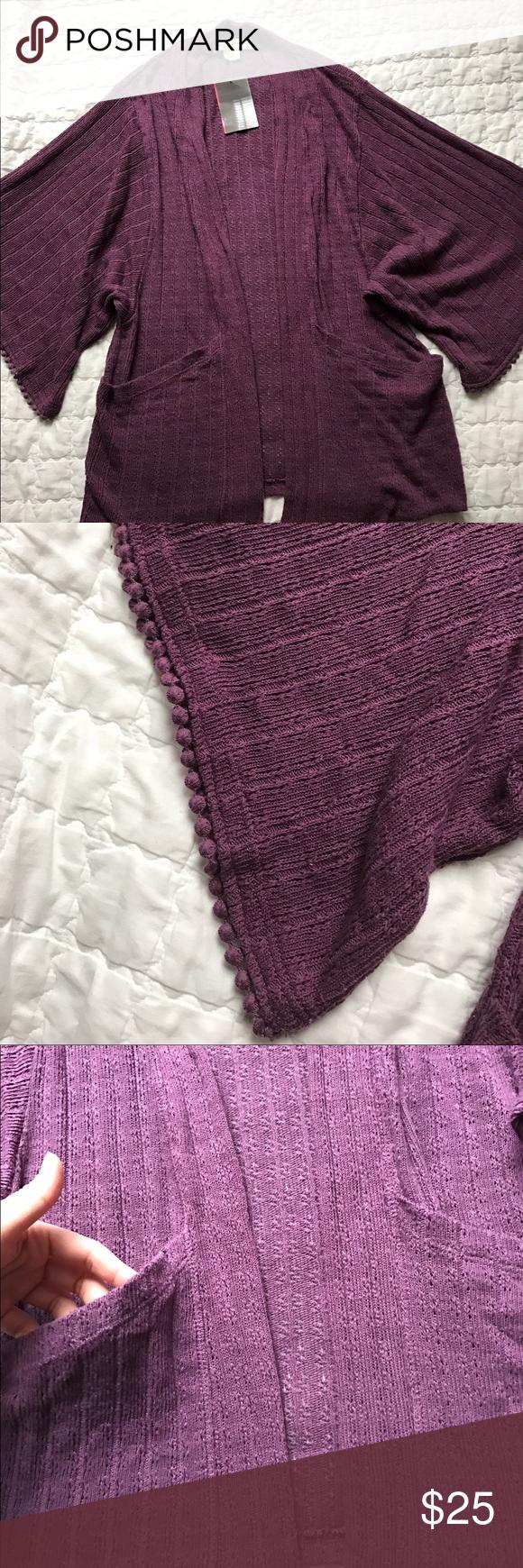 Deep purple cardigan NWT | Deep purple, Urban outfitters sweaters ...
