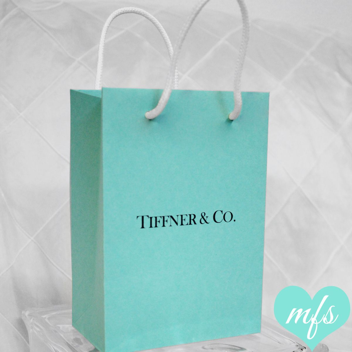 Custom Print Tiffany Blue Favor Bag Www
