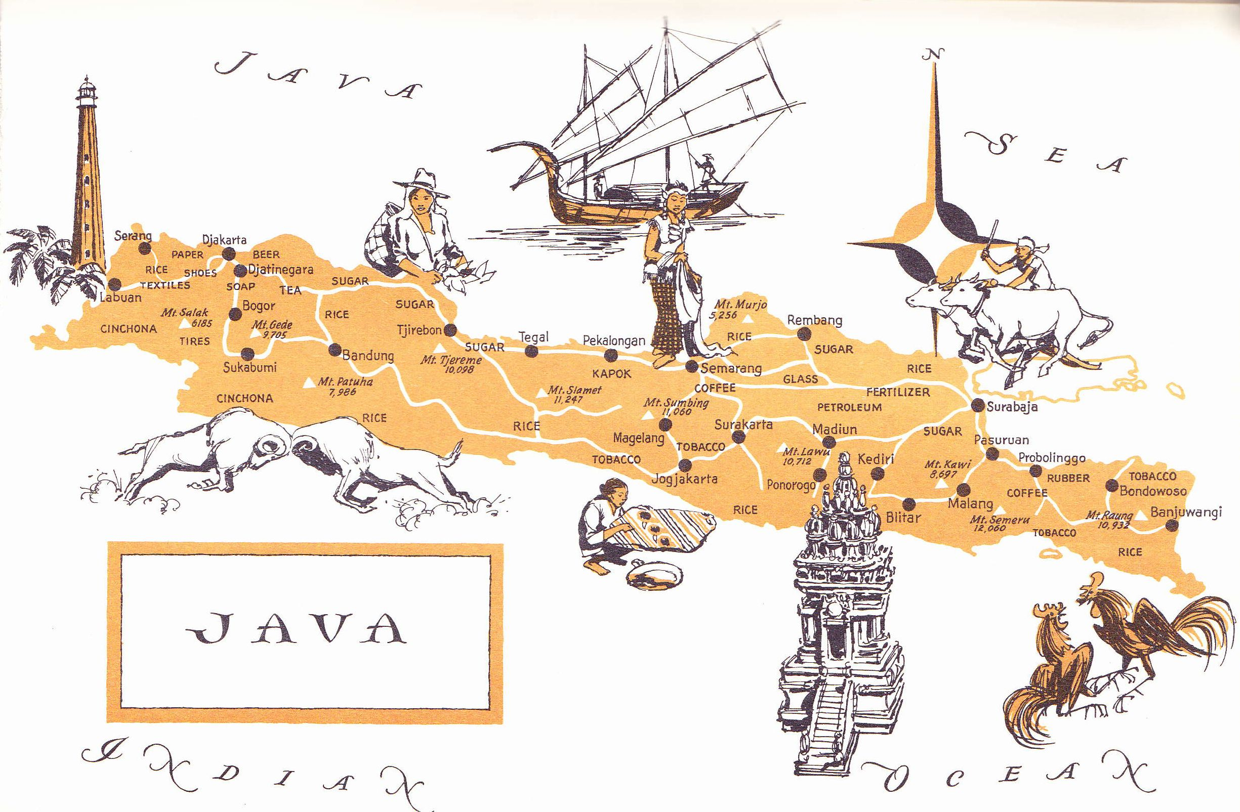 Old map of java indonesia indonesia pinterest java old map of java indonesia sciox Gallery