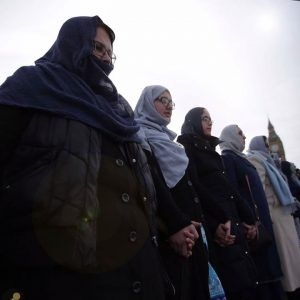 Its an attack on all of us.  Women of all religions and none link hands on Westminster  #news #alternativenews