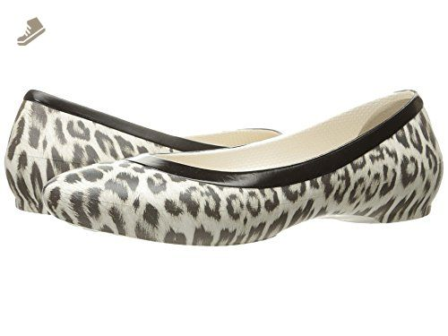 Flat M 8 Us Leopardoyster Crocs Women's Lina Graphic CxFHtpqt
