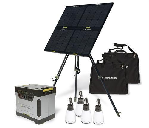 Goal Zero Yeti 1250 And Solar Panel System Off Grid System Off The Grid Solar Generator