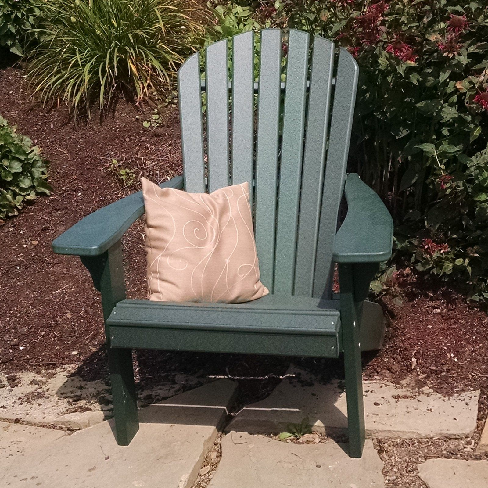 A l furniture recycled plastic fanback adirondack chair