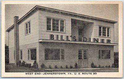 Jennerstown Pa Postcard Bills Dinner Restaurant Highway 30 Roadside C1930s