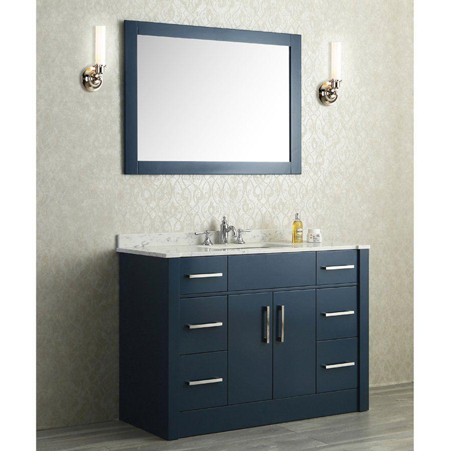 Ariel Bath 48 Seacliff Radcliff Single Sink Vanity Midnight Blue Sc Rad 48 Smb 42 Inch Bathroom Vanity Bathroom Vanity 48 Inch Bathroom Vanity