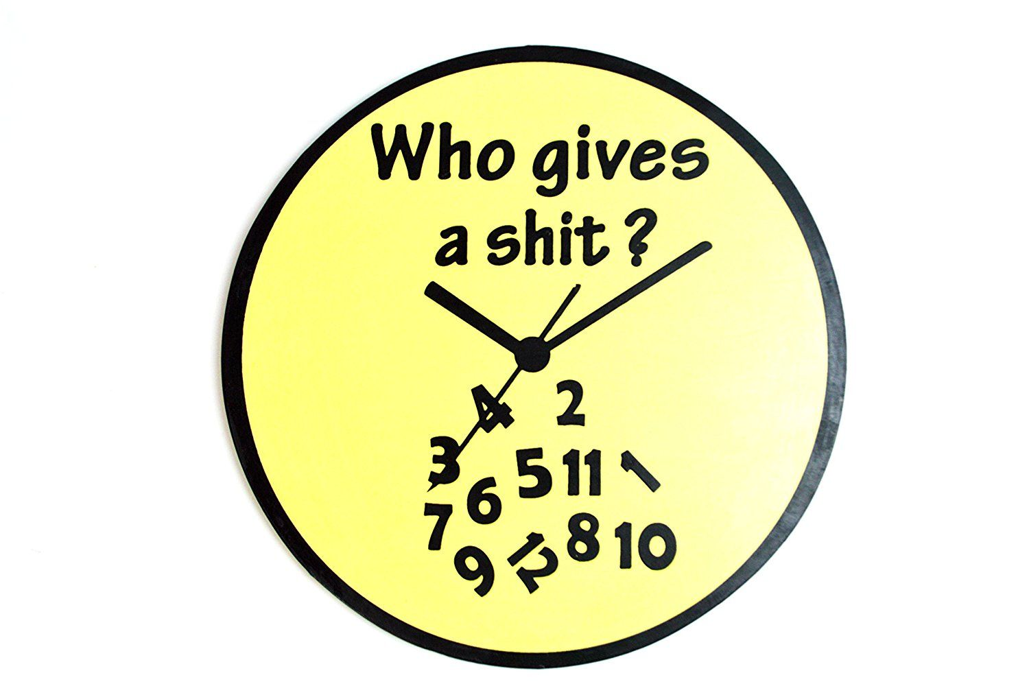LG 12 inch Hand Carved Wood \'WHO GIVES A SHIT\' CLOCK TIME Sign ...