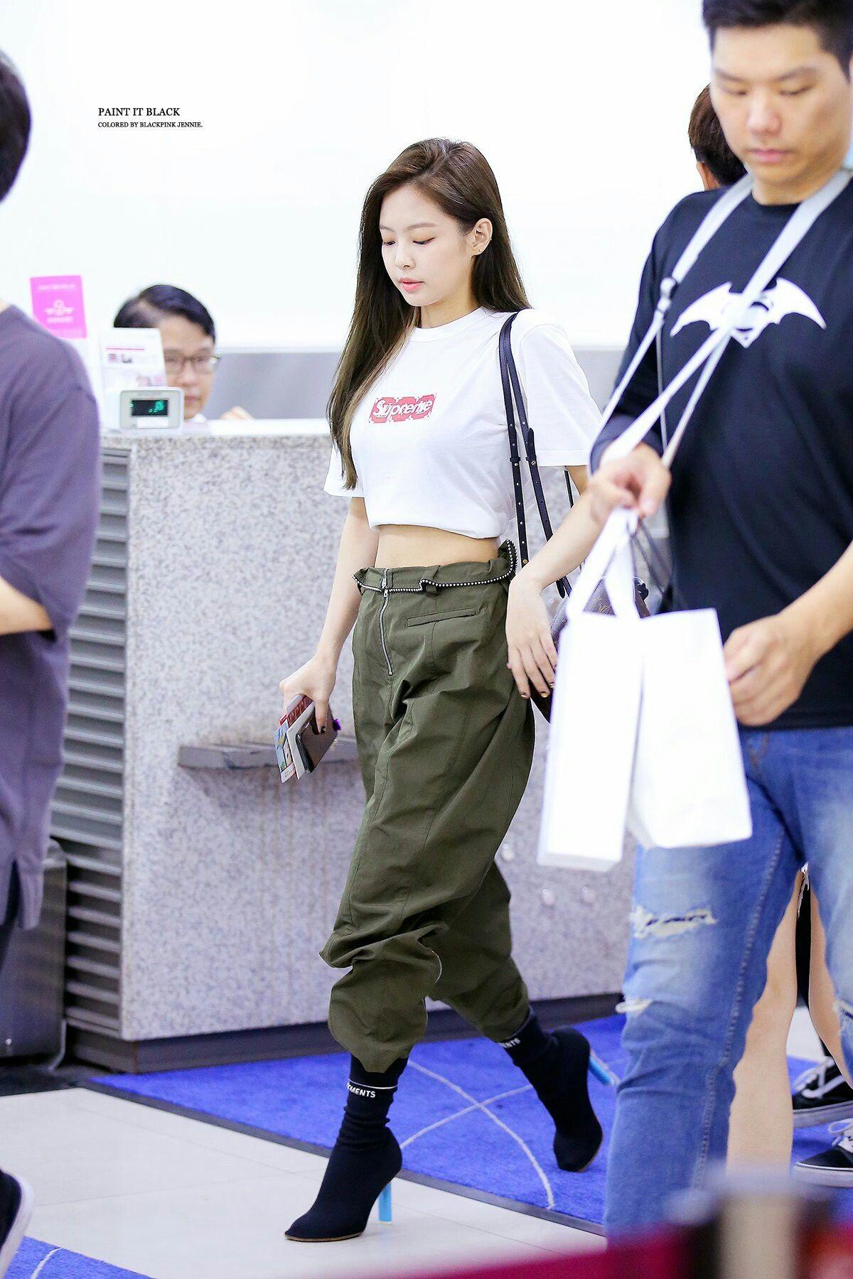 Blackpink Jennie #BLackPink #JennieKim #AirportFashion | Jennie | Pinterest | Blackpink jennie ...