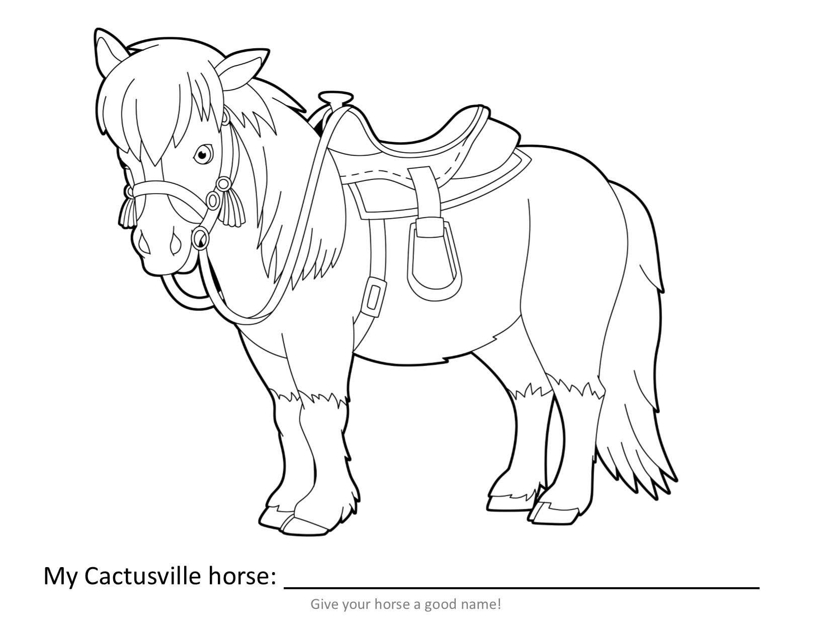 Horse Coloring Page | VBX 2017: Cactusville | Pinterest | Horse