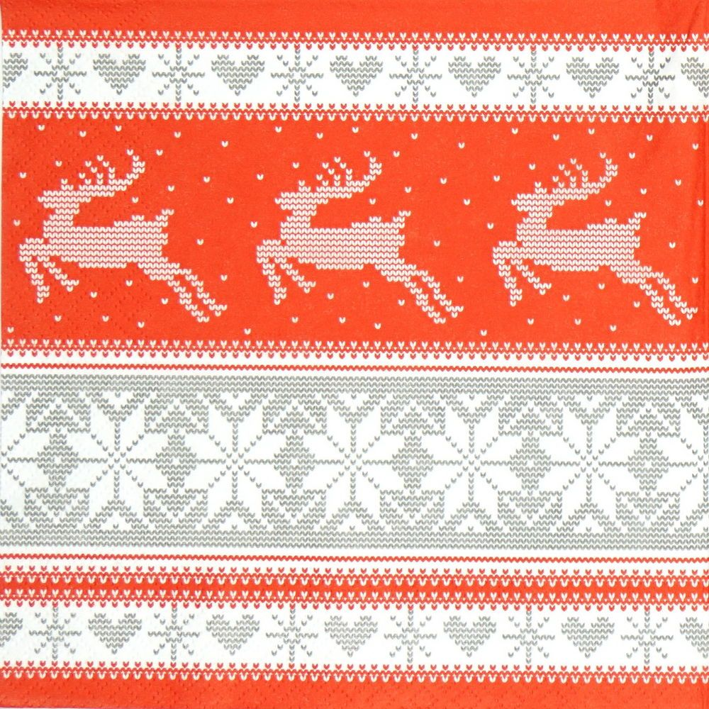 4x Paper Napkins for Decoupage Decopatch Craft Nordic Christmas